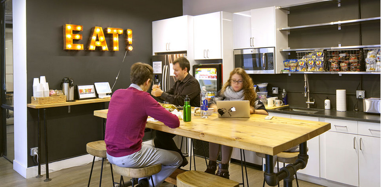 Image result for coworking kitchen